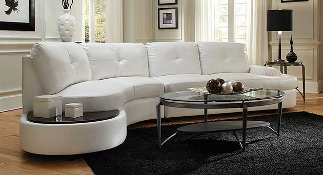 Talia White Sectional