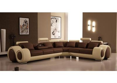 Modern Bonded Leather Sectional